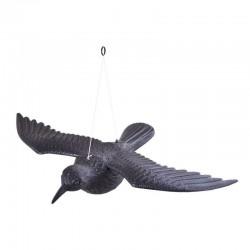 Sperietoare pentru pasari, figurina corb, 61x44x13 cm, negru
