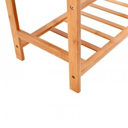 Raft din bambus pentru incaltaminte, 3 nivele, 68.5x51x24 cm, 9-10 perechi