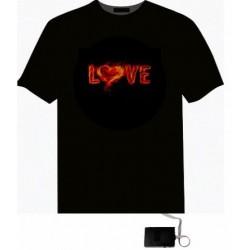 Tricou luminos cu egalizator Love
