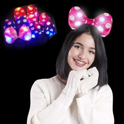 Cordeluta Minnie Mouse cu LED, bentita fetite fundita luminoasa
