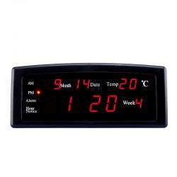 Ceas digital cu afisaj LED, 4 functii, culoare negru, Resigilat