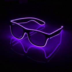Ochelari cu fir El Wire, invertor, 3 moduri de iluminare, petrecere