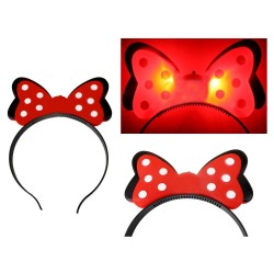Cordeluta Minnie cu LED, efect 3D, 3 moduri iluminare, 19x14 cm, fetite