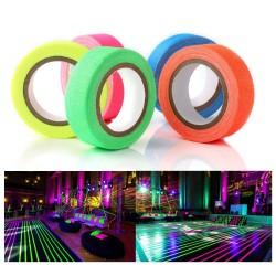 Banda decorativa fluorescenta adeziva, bumbac, impermeabila, reutilizabila, rola 25m