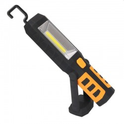 Lanterna LED COB 3W, reincarcabila, magnet, carlig, adaptor bricheta auto