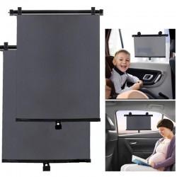 Parasolar auto retractabil pentru geamurile laterale, 40x45 cm, 2 bucati