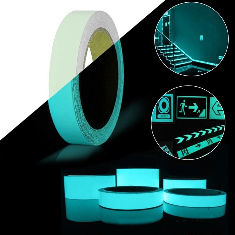 Folie de vinil fosforescenta autoadeziva glow turquoise
