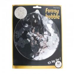 Balon confetti, latex transparent, diametru 18 inch, petrecere