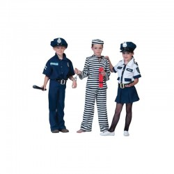 Costum politist 4 piese, baieti 4-14 ani, carnaval, albastru inchis