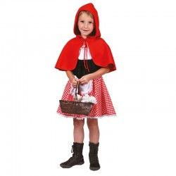 Costum carnaval fetite Lil' Red, 2 piese, poliester, 4-10 ani