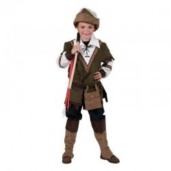 Costum carnaval Robin Hood baieti 6-14 ani, 4 piese, verde-maro