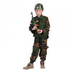 Camasa cu vesta soldat forte speciale, baieti 6-14 ani, camuflaj
