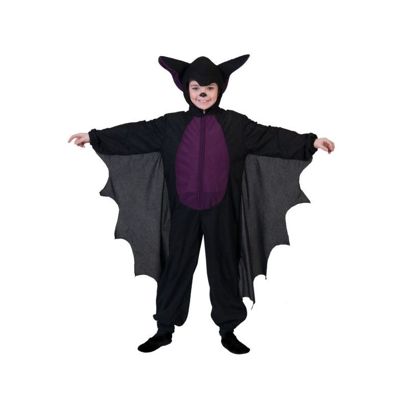 Costum liliac copii 2-8 ani, material poliester, inchidere fermoar, negru-mov