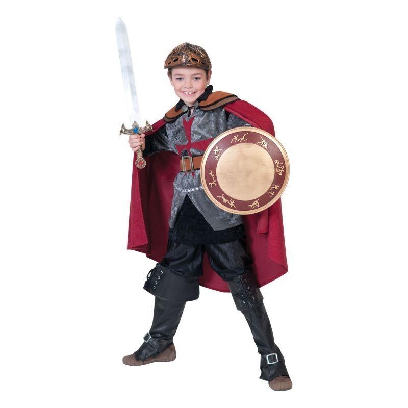 Costum Sir Rouge baieti 6-14 ani, pelerina, tunica, curea