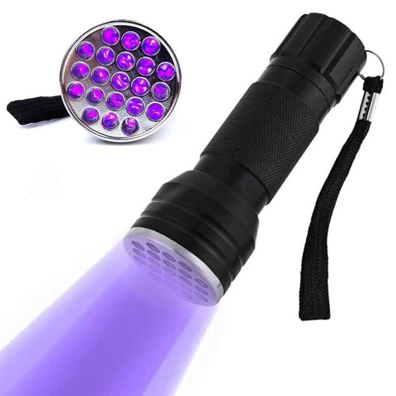 Lanterna UV 21 leduri 380 nm