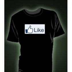 Tricou fosforescent Facebook Like