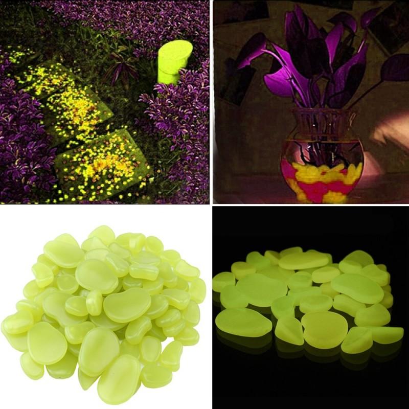 Pietricele fosforescente decorative glow galbene