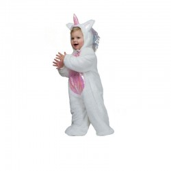 Costum unicorn tip salopeta pentru copii, poliester, multicolor