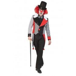Palton barbati Jester Harley, material poliester, carnaval