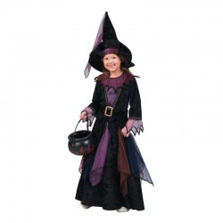 Costum vrajitoare din 3 piese, Halloween, fetite 4-14 ani