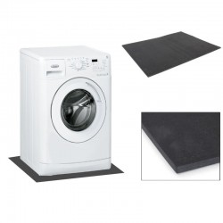 Suport pentru masina de spalat, 60x45x0.6 cm, anti-vibratii, negru