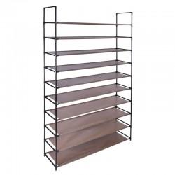 Suport pentru incaltaminte, 10 nivele, capacitate 50 perechi, cadru metal