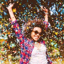 Confetti multicolore petrecere, 100 grame, diverse forme
