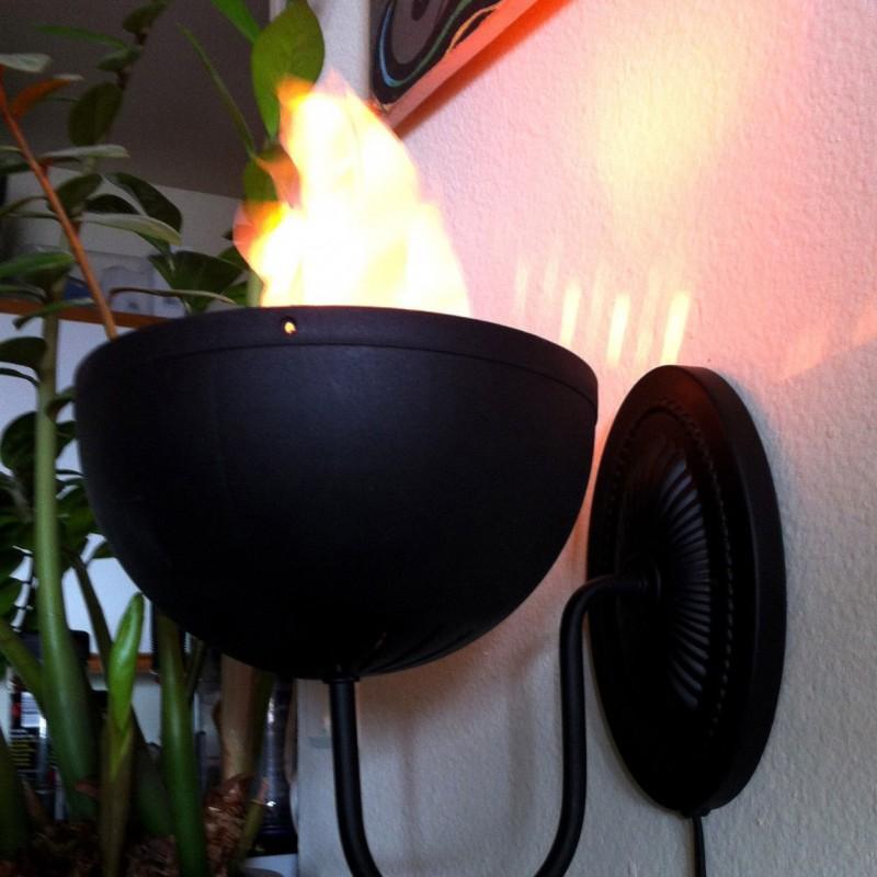 Lampa cu flacari false pentru perete