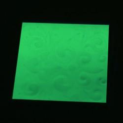 Suport fosforescent pentru pahare, autoadeziv, 7x7 cm