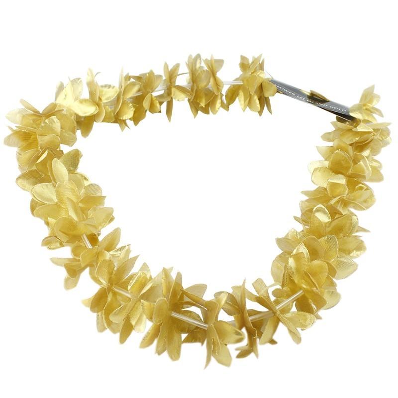Ghirlanda 36 flori, marime universala, carnaval, auriu