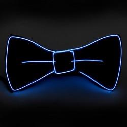 Papion cu fir El Wire, 3 moduri iluminare, invertor, petrecere
