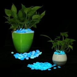 Pietricele decorative fosforescente albe care lumineaza albastru,  acril, efect glow