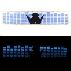Panou egalizator auto, 70x15 cm, invertor, luneta, albastru