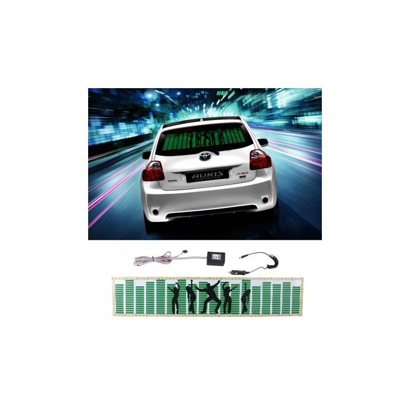 Panou egalizator pentru masina, senzor sunet, invertor, 70x15 cm