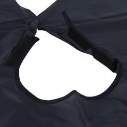 Pelerina impermeabila pentru coafor/frizerie, 140x125 cm, negru