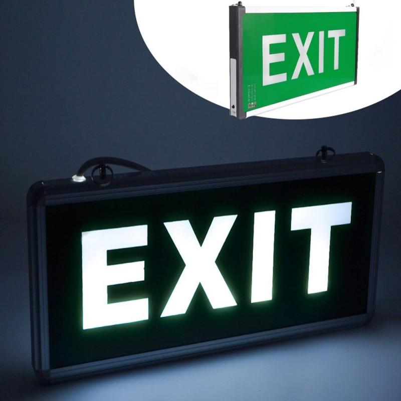 Panou de siguranta LED, semn EXIT, cu acumulator