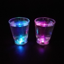 Pahar iluminat LED intermitent, 50 ml, petrecere, 6.5x4.9 cm