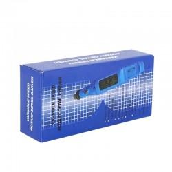 Mini pila electrica unghii, 6 capete. viteza reglabila, 20000 RPM, albastru