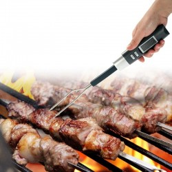 Termometru digital cu sonda pentru carne, afisaj LCD iluminat, 2 functii, sonda otel