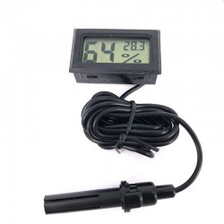 Termometru cu sonda, higrometru electronic, ecran LCD, portabil, negru