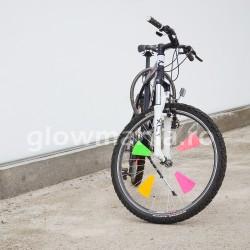 Ornamente fluorescente multicolore pentru bicicleta