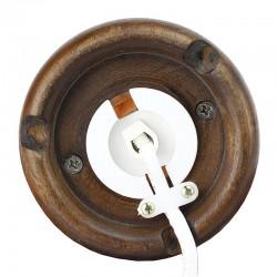 Lampa de sare 3-4 kg, lumina de veghe, E14, intrerupator, suport lemn