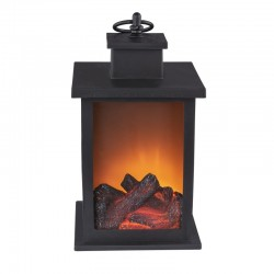 Mini semineu decorativ, efect foc, LED, temporizator, protectie IP20