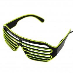 Ochelari Shutter cu fil El Wire, invertor, 3 moduri iluminare, grilaj