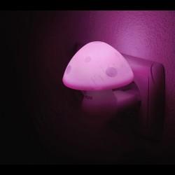 Lampa de veghe cu senzor - forma ciuperca roz