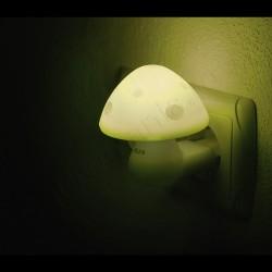 Lampa de veghe cu senzor - forma ciuperca galbena