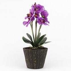 Orhidee decorativa iluminata LED, IP20, inaltime 37 cm, mov