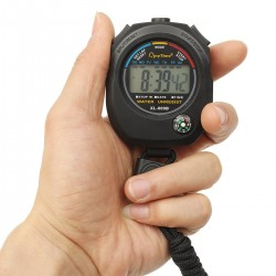 Cronometru digital cu busola, afisaj ora, calendar, functie alarma, snur, negru