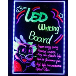 Tablita led multicolora rescriptibila pentru reclame cu telecomanda