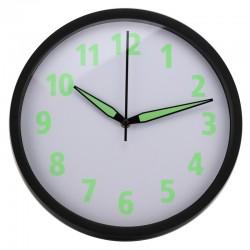 Ceas de perete mecanism Quartz, cifre si manose fosforescente, diametru 30 cm